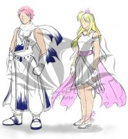 Natsu and Lucy Costume Set by Jaimep