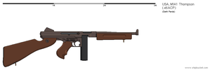Gunbucket M1A1 Thompson SMG by darthpandanl