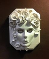Chloris Flower Goddess Mask Wall Relief by DaraGallery