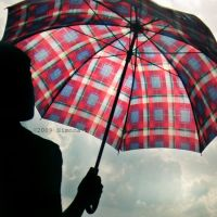An umbrella when it's raining by 6eternity9