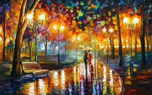 Rain's Rustle by Leonid Afremov by Leonidafremov