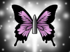 bullet with butterfly wings by Bulletssf