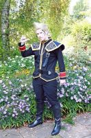 Zell in the flower garden by Wildmeryl