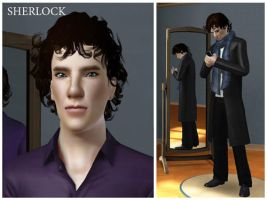 Sherlock (BBC) in The Sims 3 by androverdan