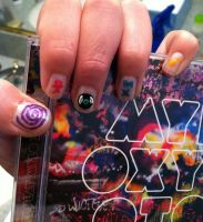 Mylo Xyloto Nails by originofemilie