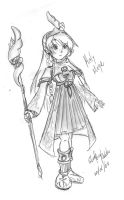Holy Mage - Fast Drawing by GhostHead-Nebula