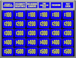 Jeopardy! board - 1991 - round 1 by wheelgenius