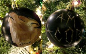 Team Jacob Twilight Ornament by CherriKiss