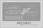 Tiny Text Brushes by xevergreen