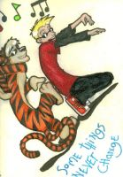 Calvin and Hobbes by AnotherLazyDreamer