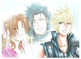 FF7: Being Stalked by 2 Angels by DarkLitria