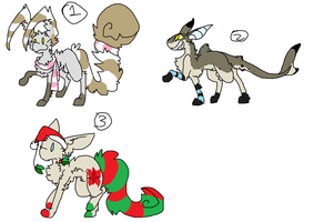 3 new holiday adopts closed by Silhouett3s
