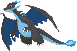 My first vector of, Mega X Charizard. by Flutterflyraptor