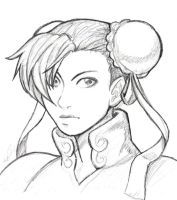 Chun Li Sketch by GoldenMuseX