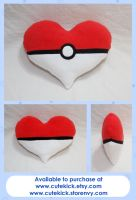 Pokeheart Pillow by cutekick