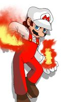 Fire Mario by ss2sonic