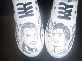 Dr who custom trainers. by Tezza-jr