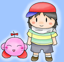 Kirby Earthbound Zero by PuffyTrousers
