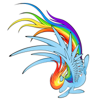 Rainbow Dash (Vector) by flamevulture17