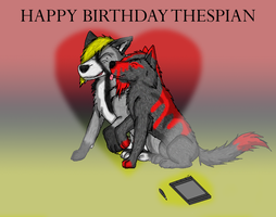 Happy Birthday Thespian by Z-The-Wolf