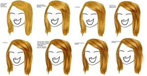 Quick how to draw straight, long hair - Tutorial by Zeitzeugin