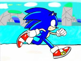 Sonic in Wave Ocean DONE by tailsdude12