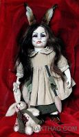 NURSERY CRYMES Rabbitina - gothic horror doll by NAKT-HAG