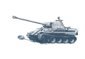 Panther Panzer by Tetchist