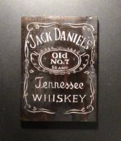jack daniels carved logo from wood by EdwardWoodART