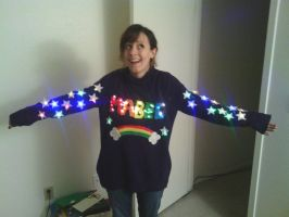 FINISHED MABEL SWEATER! by Kitty-Gizmo