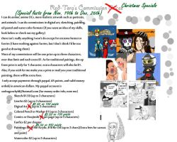 Christmas Commission Specials by Gingersnap87