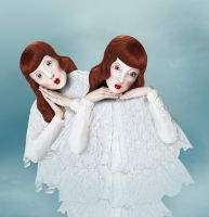 Portrait of Twin Dolls by vismaya