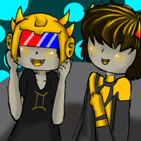 Mituna and sollux by evillovebunny500