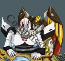 Commish: Prowl and Flamestrike by Ty-Chou