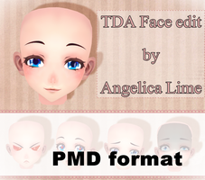 TDA Face edit (PMD format) by Angelica-Lime