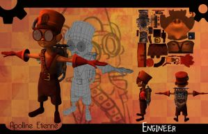 3d Character - Engineer by ApollinArt