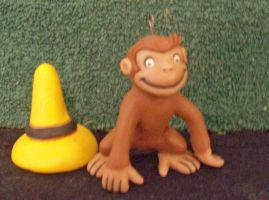 Curious George by superclayartist