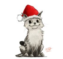 Christmas Kitty by gamespeaker13