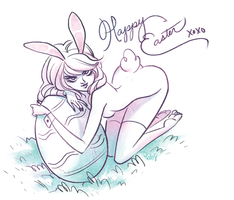 happy easter by babsdraws