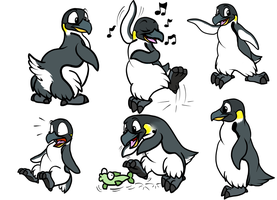Doodle Cartoon Penguin by Enricthepenguin92