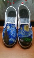 Starry Night Shoes by sinister7showdown