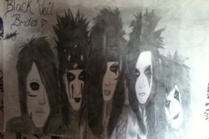 Black Veil Brides Drawing by We-are-all-alone