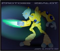 Protoss Zealot by LegendaryFrog