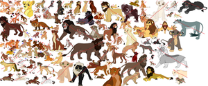 135 Free Lion Adoptables by Dragons-Stuff