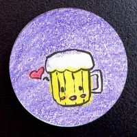 Hand Drawn Buttons - Beer by gippentarp