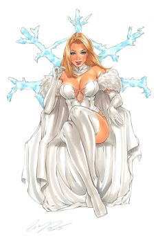 Emma Frost Original Art by Elias-Chatzoudis