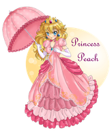 Princess Peach by Candy-DanteL