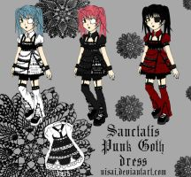 Sanctatis Punk Goth dress by Nisai