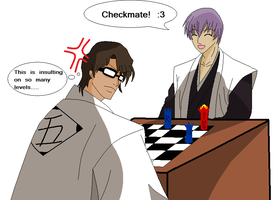 Art Trade: Gin Wins At Chess by Lordviral