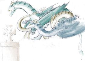Sekine Celtic Dragons Colored by Utao